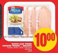 Maple Leaf Prime Chicken Thighs Or Breasts - 450-843 G