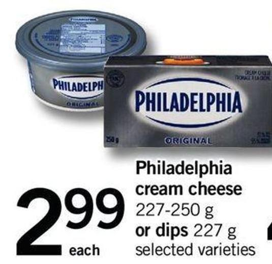 Philadelphia Cream Cheese 227/250 G Or Dips 227 G