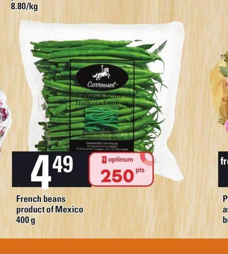 French Beans Carrousel - 400 G