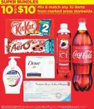 Nestlé King Size Chocolate Bars63-90 G - PC Cotton Swabs - 170's - Coca-cola Soft Drinks - 1.25 L Sparkling Ice Beverages - 503 Ml - Dove Bar Soap - 90 G - Softsoap Liquid Hand Soap 162 Ml