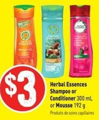 Herbal Essences Shampoo or Conditioner 300 mL or Mousse 192 g