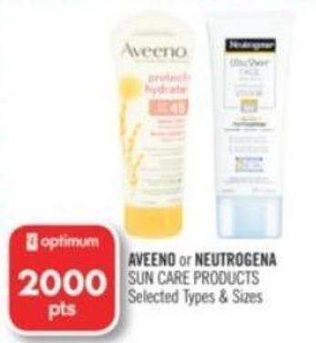 Aveeno or Neutrogena Sun Care Products