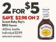 Sweet Baby Ray's Bbq Sauce 425ml Bottle