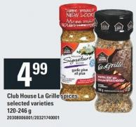 Club House La Grille Spices - 120-246 g