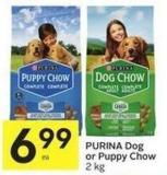Purina Dog or Puppy Chow 2 Kg Ea