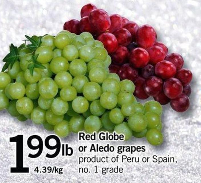 Red Globe Or Aledo Grapes