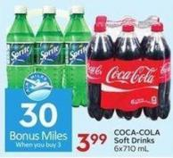 Coca-cola Soft Drinks 6x710 mL - 30 Air Miles Bonus Miles