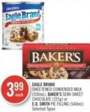 Eagle Brand  Sweetened Condensed Milk (300ml) - Baker's Semi-sweet Chocolate (225g) or E.d. Smith Pie Filling (540ml)