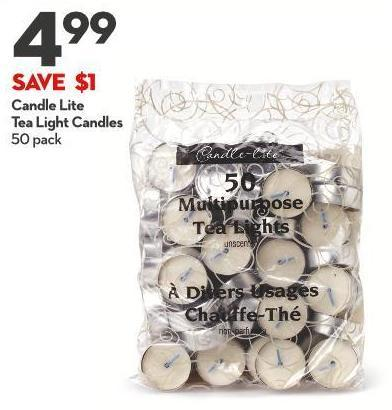 Candle Lite  Tea Light Candles 50 Pack