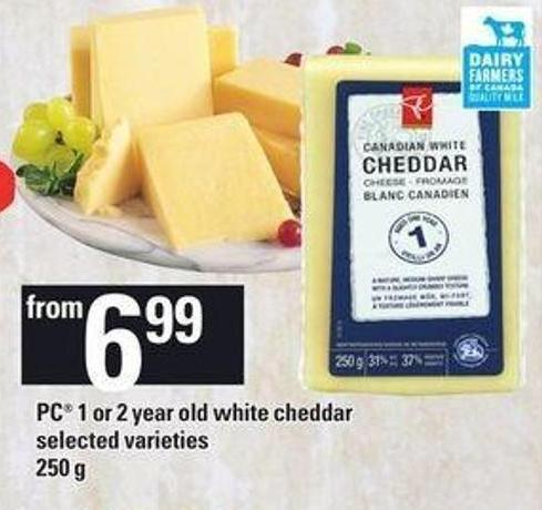 PC 1 Or 2 Year Old White Cheddar - 250 G