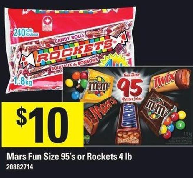 Mars Fun Size 95's Or Rockets 4 Lb