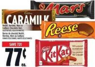 Nestlé - Hershey - Mars Or Cadbury Chocolate Bars