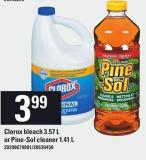 Clorox Bleach - 3.57 L Or Pine-sol Cleaner - 1.41 L