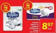 Royal Velour or Original Bathroom Tissue