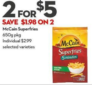 Mccain Superfries 650g Pkg