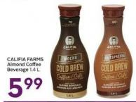 Califia Farms Almond Coffee Beverage 1.4 L