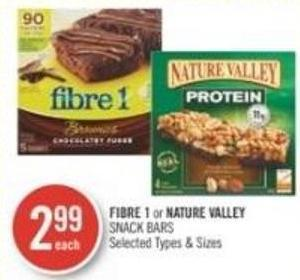 Fibre 1 or Nature Valley  Snack Bars