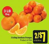 3 Lb Bag Seedless Oranges