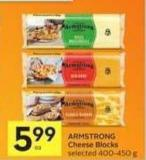 Armstrong Cheese Blocks - 40 Bonus Air Miles