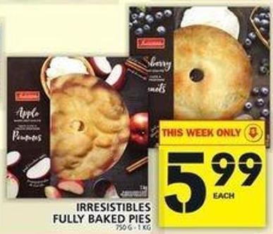 Irresistibles Fully Baked Pies