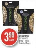 Wonderful Pistachios 178g - 280g