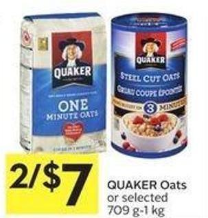 Quaker Oats or Selected 709 G-1 Kg