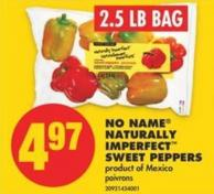 No Name Naturally Imperfect Sweet Peppers - 2.5 Lb Bag