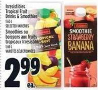 Irresistibles Tropical Fruit Drinks & Smoothies 1.65 L