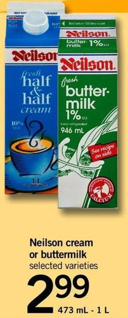 Neilson Cream Or Buttermilk - 473 mL - 1 L