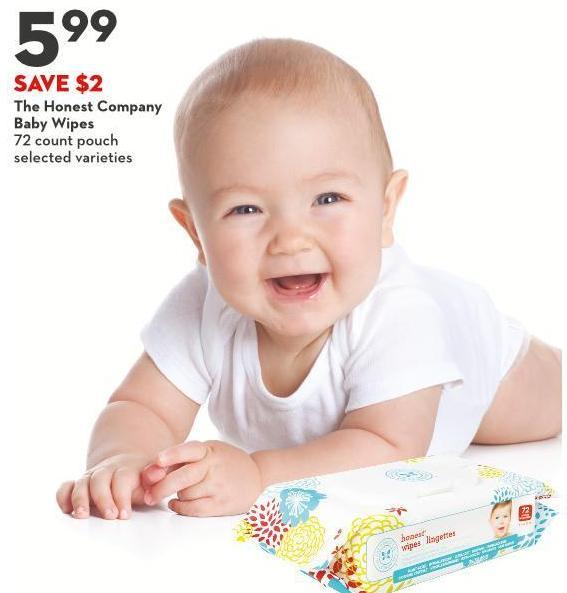 The Honest Company  Baby Wipes 72 Count Pouch