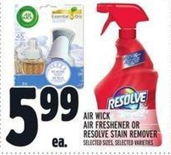 Air Wick Air Freshener Or Resolve Stain Remover
