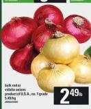 Bulk Red Or Vidalia Onions