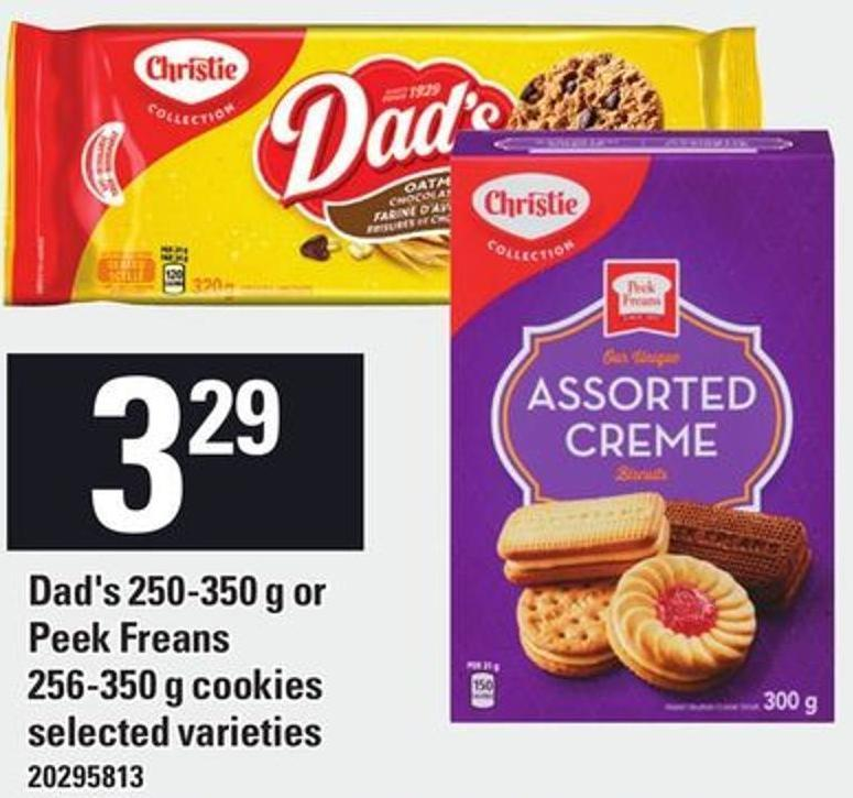 Christie Dad's 250-350 g Or Peek Freans 256-350 g Cookies