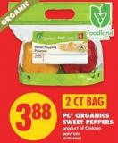 PC Organics Sweet Peppers - 2 Ct Bag