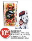 Carnaby Sweet Gourmet Jelly Beans (700g) - PC Big Box Collection (800g) - or Walkers Scottie Dog Shortbread Cookies (200g)