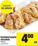 Braided Apple Strudels - 420 g