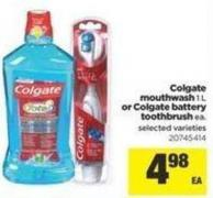 Colgate Mouthwash 1 L Or Colgate Battery Toothbrush