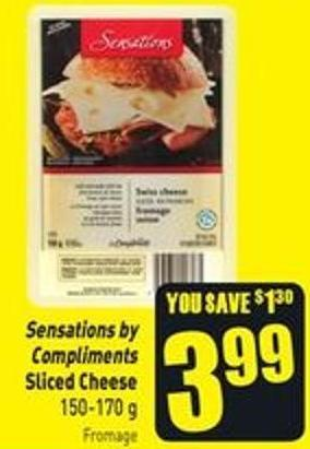 Sensations By Compliments Sliced Cheese 150-170 g