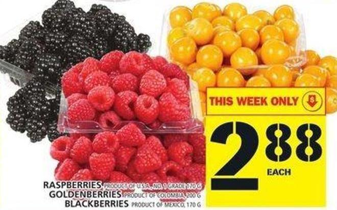 Raspberries Or Goldenberries Or Blackberries