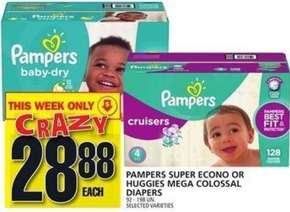 Pampers Super Econo Or Huggies Mega Colossal