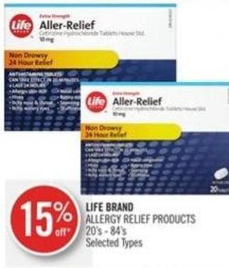 Life Brand  Allergy Relief Products 20's - 84's