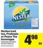 Nestea Iced Tea - Fruitopia Or Peace Tea Beverages - 12x341/355 mL