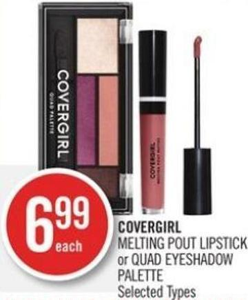 Covergirl  Melting Pout Lipstick or Quad Eyeshadow Palette