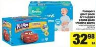 Pampers Giant Pack Or Huggies Econo Pack Training Pants - 82-124's