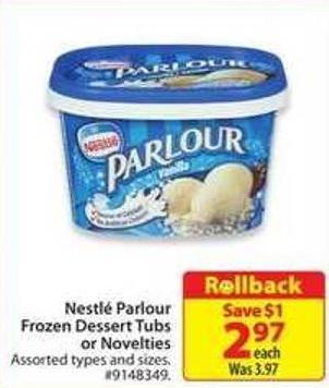 Nestle Parlour Frozen Dessert Tubs or Novelties