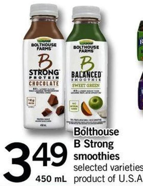 Bolthouse B Strong Smoothies - 450 Ml