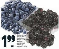 Blackberries 170 G Product Of Mexico - Blueberries 170 G Product Of U.S.A. - No. 1 Grade