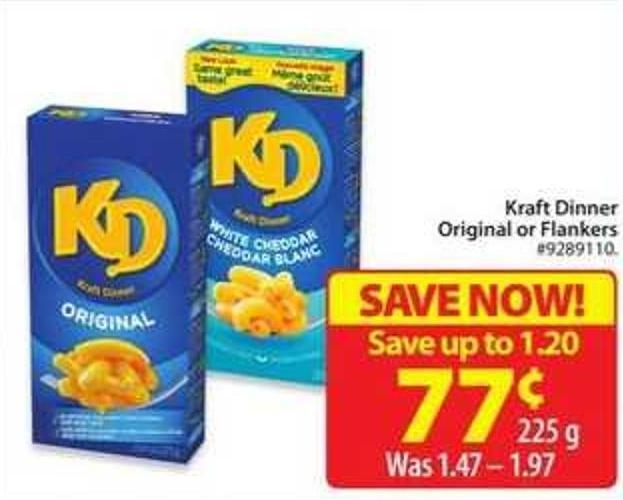 Kraft Dinner Original or Flankers