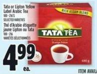 Tata Or Lipton Yellow Label Arabic Tea 100 - 216's