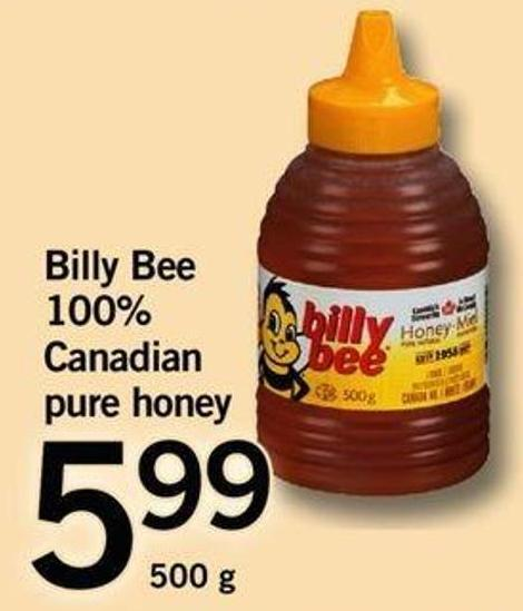 Billy Bee 100% Canadian Pure Honey - 500 G